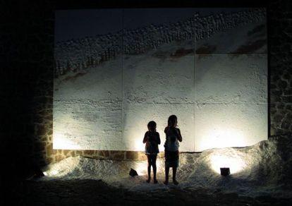 Uno de los trabajos de Olga Andrino expuestos en Nueva York.