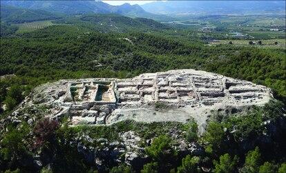 Vista aérea del asentamiento de La Almoloya.