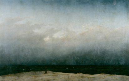 'Monje a la orilla del mar' (1808-1810), de Caspar David Friedrich.