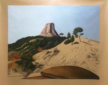 'Mule deer' (2020), de Gabriela Bettini, en la muestra 'Topografía del borrado', en la galería Sabrina Amrani.  