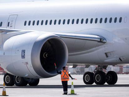 Imagen de archivo de un avión en el aeropuerto de Chile.