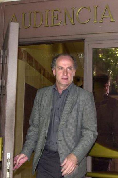 Martxelo Otamendi sale de la Audiencia Nacional.