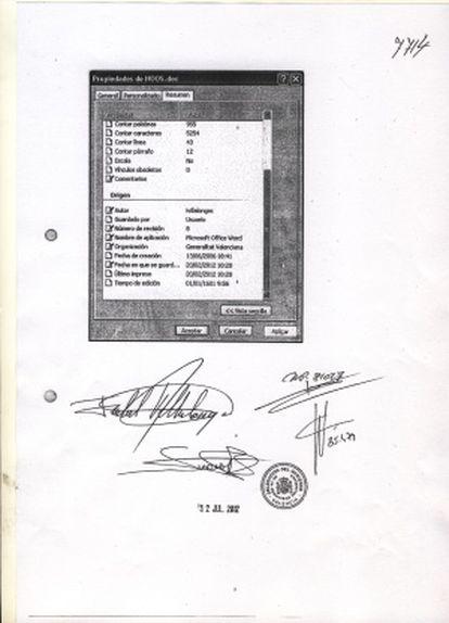 Una de las páginas del documento elaborado por la exsubsecretaria con las anomalías que detectó.