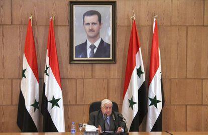 El ministro de Exteriores de Siria, Walid Moalem, el jueves en Damasco.
