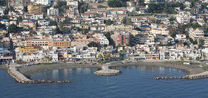 Vista aérea del barrio del Pedregalejo de Málaga.