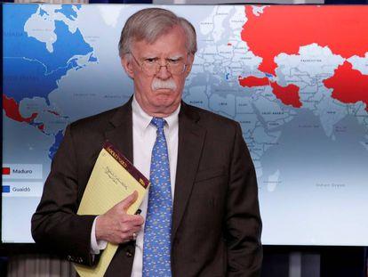 El consejero de seguridad de Trump, John Bolton.