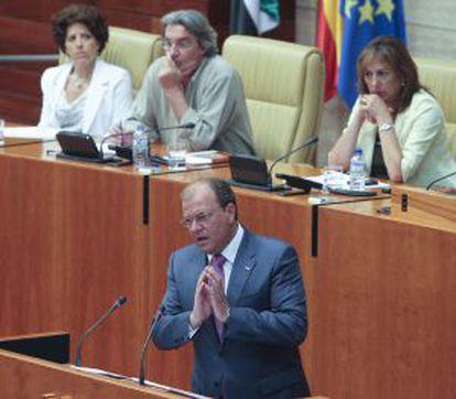 José Antonio Monago, en el Parlamento extremeño.