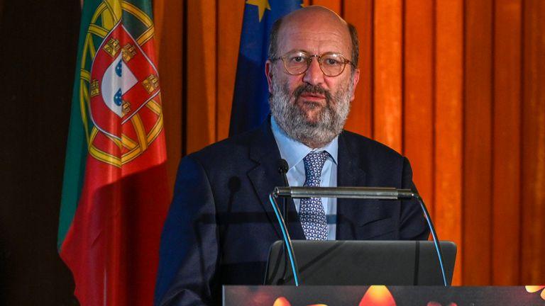El ministro de Medio Ambiente portugués, João Pedro Matos Fernandes, en una imagen de 2019 en Lisboa.