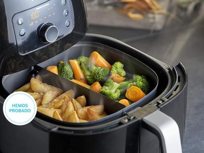 Patatas, verduras, pescados o carnes: en estas freidoras sin aceite se pueden preparar todo tipo de alimentos.