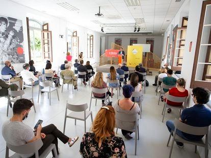 Momento de la presentación del festival Escribidores, en el centro cultural La Térmica.