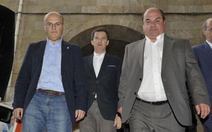José Manuel Baltar, Feijóo y Mouriño, en Celanova