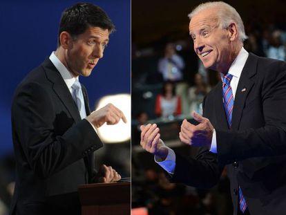 Paul Ryan y Joe Biden.