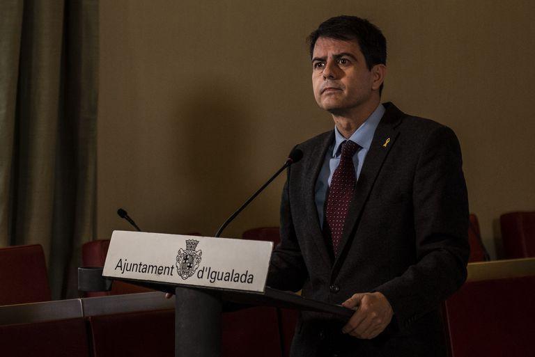 Marc Castells durante una rueda de prensa.