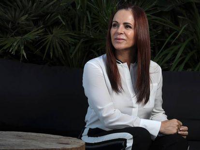 Silvia Clemente, ex candidata de Ciudadanos en Castilla y León, en un hotel de Madrid.