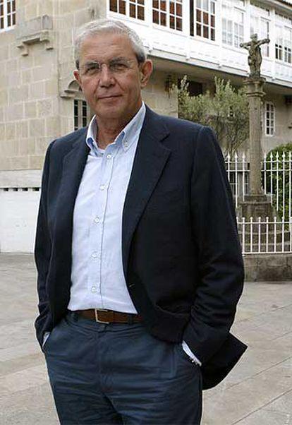 El presidente de la Xunta de Galicia, Emilio Pérez Touriño, en el Parador de Pontevedra.