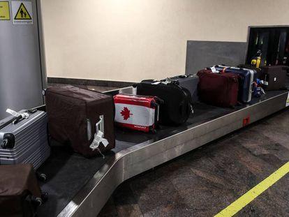 Una banda de equipaje.