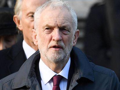 El líder del Partido Laborista, Jeremy Corbyn, el pasado domingo en Londres.