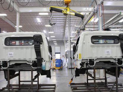 Vista de la planta automotriz de Hyundai en Querétaro.