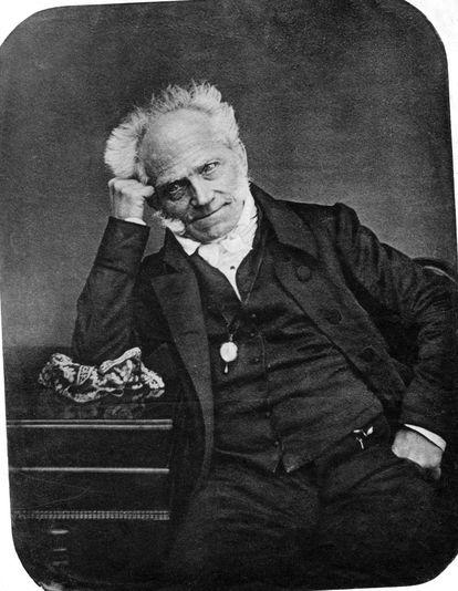 El filósofo Arthur Schopenhauer, en un retrato de 1855.