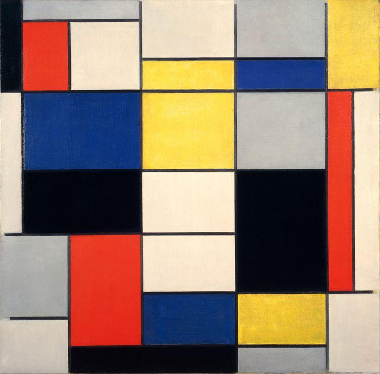 'Gran composición A en negro, rojo, gris, amarillo y azul' (1919), de Piet Mondrian, en la Galleria Nazionale d'Arte Moderna e Contemporanea de Roma.