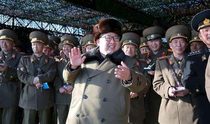 Imagen de Kim Jong-un difundida este viernes por la agencia KCNA.