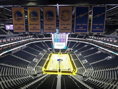 Vista general del Chase Center, pabellón de Golden State Warriors.