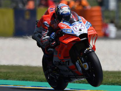 Dovizioso, en los libres de este viernes en Le Mans.