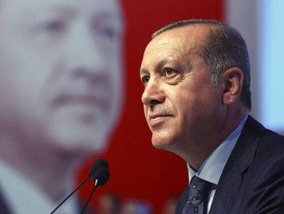 El presidente turco Recep Tayyip Erdogan durante un acto en Istanbul.