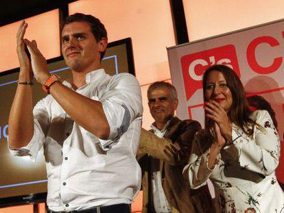 Albert Rivera, Carlos Carrizosa; y Sonia Sierra, en un acto en Granollers, en una imagen de archivo.