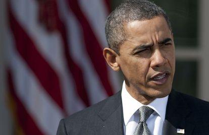 El presidente de Estados Unidos, Barack Obama, hoy en la Casa Blanca.