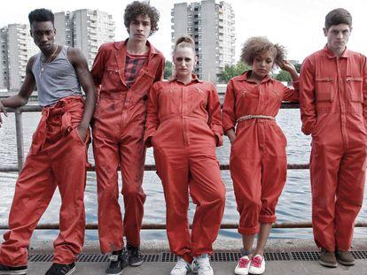 Los protagonistas de la serie 'Misfits'.
