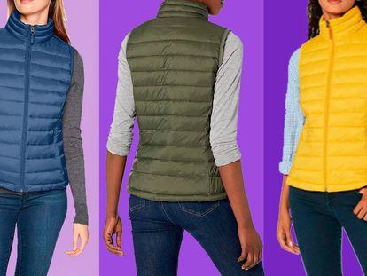 Elegimos este chaleco acolchado de mujer disponible en Amazon a un precio excepcional.