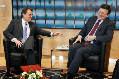 El presidente de la Generalitat, Artur Mas, y el presidente de la Comisión Europea, José Manuel Durâo Barroso, en 2012.