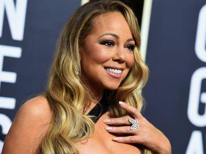 Mariah Carey, el pasado 7 de enero en los Globos de Oro.