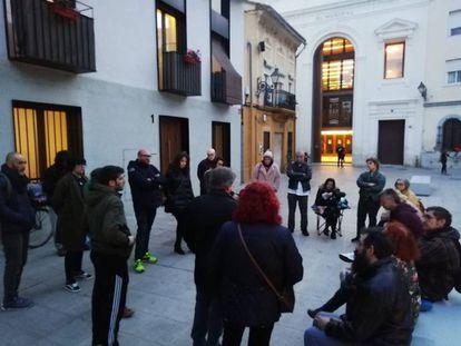 Una asamblea vecinal en el barrio valenciano del Cabanyal.