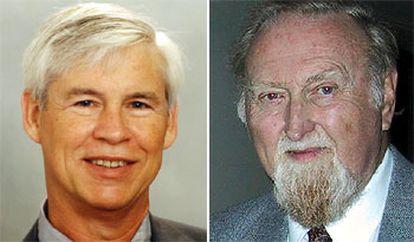 Los Nobel de Economía de 2003,  Robert Engle (izquierda) y Clive Granger.