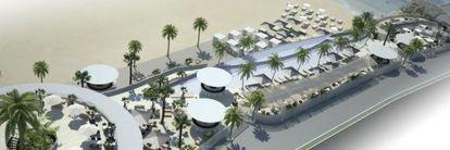 Imagen virtual del Marina Beach Club, en Valencia