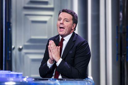 Matteo Renzi, este miércoles en Roma, en un programa televisivo.