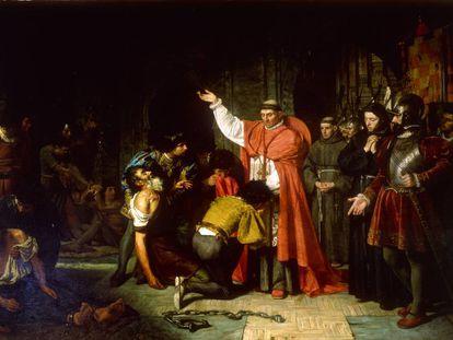El cardenal Cisneros libertando a los cautivos de Orán, de Francisco Jover y Casanova.