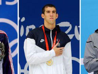 Phelps, con el oro de los tres Juegos consecutivos.