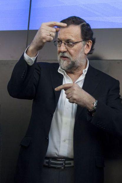 Mariano Rajoy, el pasado 13 de marzo en Pontevedra.