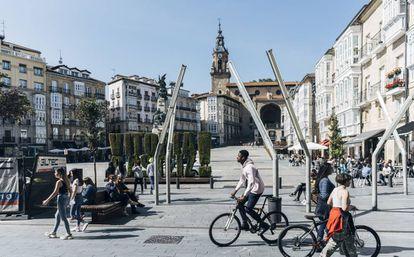 Plaza de la Virgen Blanca o plaza Vieja, en Vitoria-Gasteiz.
