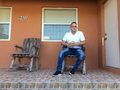 Yunieski en casa de su primo en Miami.