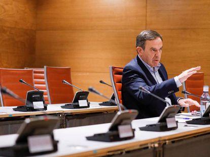 El exsecretario general del PSPV-PSOE Joan Ignasi Pla, en el Senado.