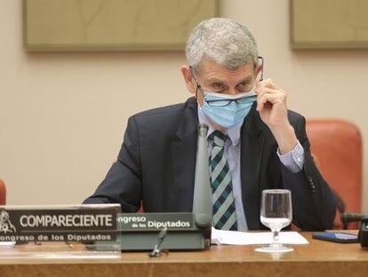 El presidente de RTVE, José Manuel Pérez Tornero, interviene ante la Comisión Mixta de Control Parlamentario de la Corporación RTVE y sus Sociedades, el jueves 24 de junio de 2021, en Madrid.
