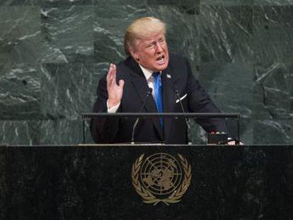El presidente de EEUU pone en la cuerda floja el pacto nuclear con Irán al tiempo que pide una  alianza de naciones soberanas  contra los amenazas globales