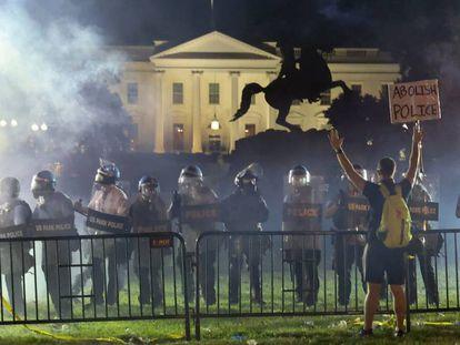 Protestas cerca de la Casa Blanca.