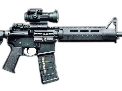 Fusil de asalto AR-15, uno de los que fueron utilizados en la matanza de Las Vegas.