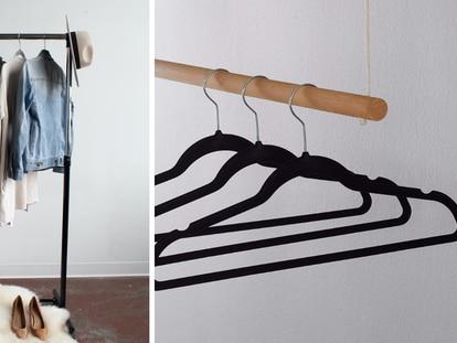 Elegimos estos ganchos para ropa ideales para ahorrar espacio en los clósets de casa.