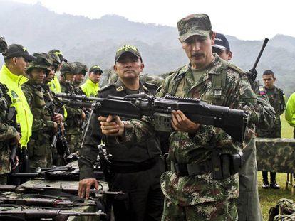 Nicacio Martínez Espinel, jefe del Ejército colombiano, en enero de 2014.